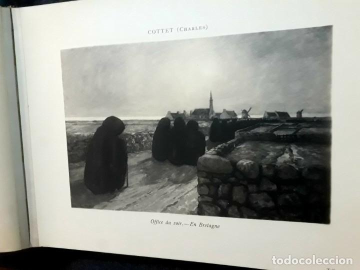 Libros antiguos: Collection Emile Lernoud 1924 gran álbum fotos originales Diaz del Peña Fader Corot Bonnat Steinlen - Foto 11 - 182041670
