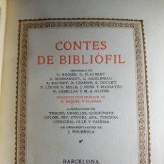 Libros antiguos: CONTES DE BIBLIÓFIL POR R. MIQUEL I PLANES 1924 NUMERADO. Lote 183494013