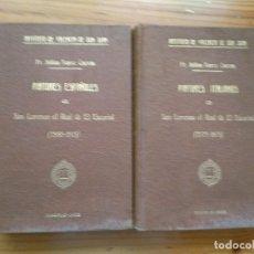 Libros antiguos: ZARCO CUEVAS, JULIÁN - PINTORES ESPAÑOLES E ITALIANOS EN SAN LORENZO EL REAL DE EL ESCORIAL. Lote 184595195