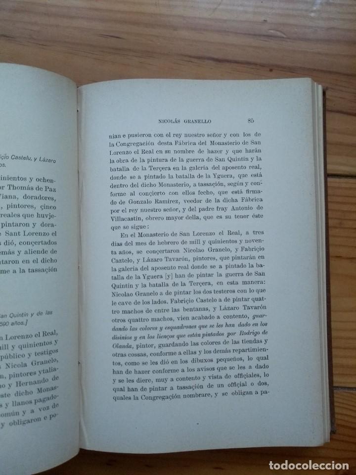 Libros antiguos: Zarco Cuevas, Julián - Pintores Españoles e Italianos en San Lorenzo el Real de El Escorial - Foto 14 - 184595195