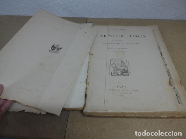 Libros antiguos: Antiguo gran libro lart pour tous, 1864, de arte, Francia. Original - Foto 2 - 186012636