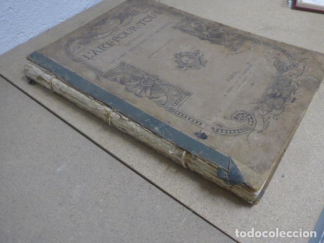 Libros antiguos: Antiguo gran libro lart pour tous, 1864, de arte, Francia. Original - Foto 6 - 186012636