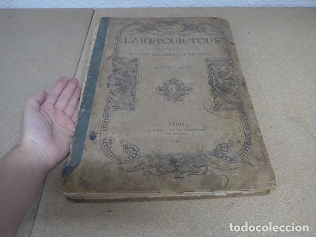 Libros antiguos: Antiguo gran libro lart pour tous, 1864, de arte, Francia. Original - Foto 9 - 186012636