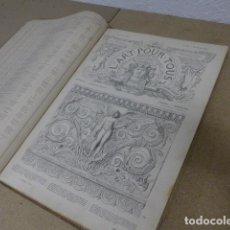 Libros antiguos: ANTIGUO GRAN LIBRO L'ART POUR TOUS, 1864, DE ARTE, FRANCIA. ORIGINAL. Lote 186012636