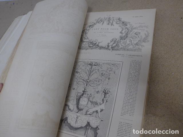 Libros antiguos: Antiguo gran libro lart pour tous, 1864, de arte, Francia. Original - Foto 19 - 186012636
