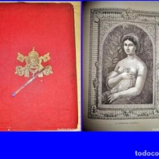 Libros antiguos: AÑO 1859: GALERÍAS DE EUROPA: ROMA. ESPECTACULAR Y ELEGANTE VOLUMEN ILUSTRADO DE 38 CM.. Lote 188814613
