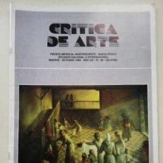 Libros antiguos: CRÍTICA DE ARTE. REVISTA MENSUAL INDEPENDIENTE. Lote 189553870
