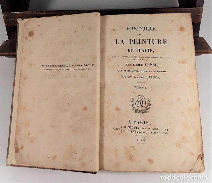 Libros antiguos: HISTOIRE DE LA PEINTURE EN ITALIE. 4 TOMOS. EDIT. H. SEGUIN. PARÍS. 1824. - Foto 4 - 190229423