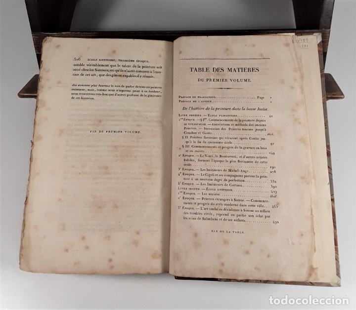 Libros antiguos: HISTOIRE DE LA PEINTURE EN ITALIE. 4 TOMOS. EDIT. H. SEGUIN. PARÍS. 1824. - Foto 6 - 190229423