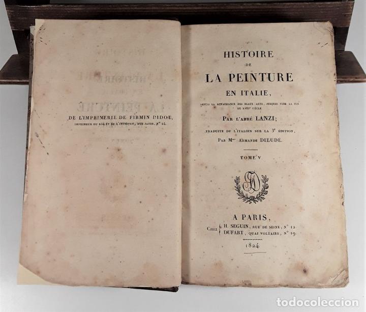 Libros antiguos: HISTOIRE DE LA PEINTURE EN ITALIE. 4 TOMOS. EDIT. H. SEGUIN. PARÍS. 1824. - Foto 7 - 190229423