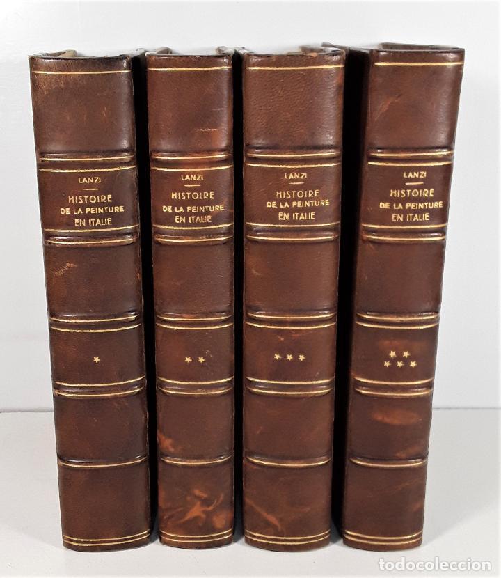 HISTOIRE DE LA PEINTURE EN ITALIE. 4 TOMOS. EDIT. H. SEGUIN. PARÍS. 1824. (Libros Antiguos, Raros y Curiosos - Bellas artes, ocio y coleccion - Pintura)