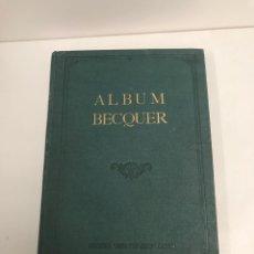 Libros antiguos: ÁLBUM DE BECQUER DIBUJOS CONMEMORATIVOS VALERIANO GUSTAVO ADOLFO. Lote 190395560