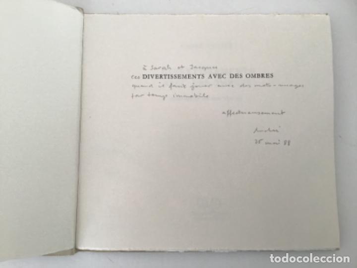 Libros antiguos: Divertissements avec des Ombres con frontispicio de Zao Wou Ki - Foto 2 - 193304091