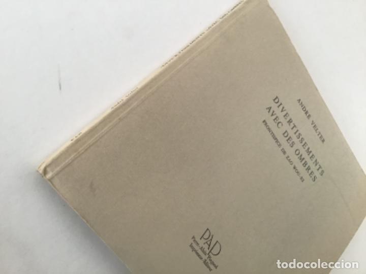 Libros antiguos: Divertissements avec des Ombres con frontispicio de Zao Wou Ki - Foto 5 - 193304091