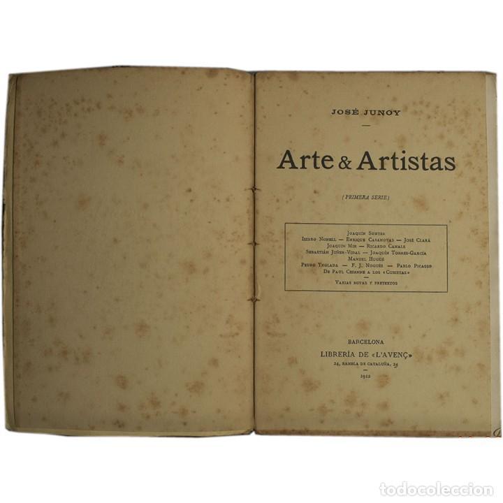 Libros antiguos: LIBRO ANTIGUO. ARTE&ARTISTAS, JOSÉ JUNOY, 1912 - Foto 2 - 194881172