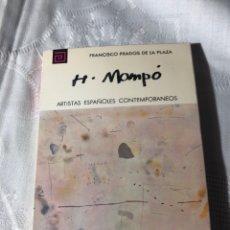 Libros antiguos: ARTISTAS ESPAÑOLES CONTEMPORANEOS SERIE PINTORES 157 H.MOMPO FRANCISCO PRADOS DE LA PLAZA. Lote 195194995