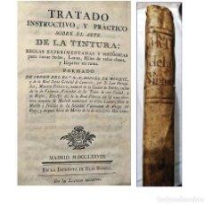 Libros antiguos: AÑO 1778: TRATADO DEL ARTE DE LA TINTURA. LIBRO ESPAÑOL EN PERGAMINO DEL SIGLO XVIII.. Lote 195205506