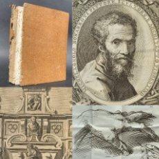 Libros antiguos: 1760 - VIDA DE MIGUEL ANGEL BUONARROTI - PINTOR, ESCULTOR Y ARQUITECTO - RENACIMIENTO - GRABADOS. Lote 195533330