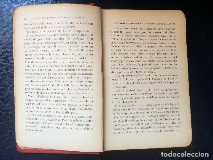 Libros antiguos: el arte reconocer las pinturas antiguas lárt reconnaitre les tableaux anciens 1921 - Foto 6 - 198198372