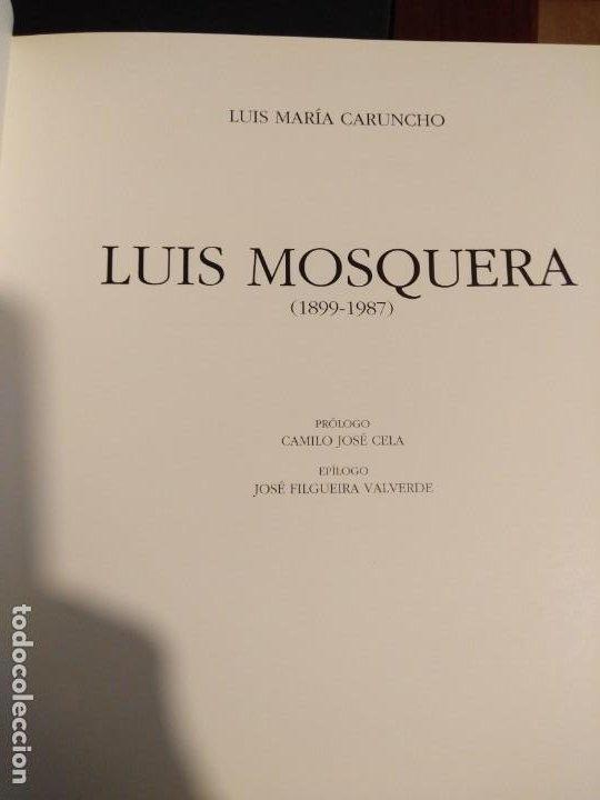 Libros antiguos: Biografía de Luis Mosquera (pintor coruñés) - Foto 3 - 199288403
