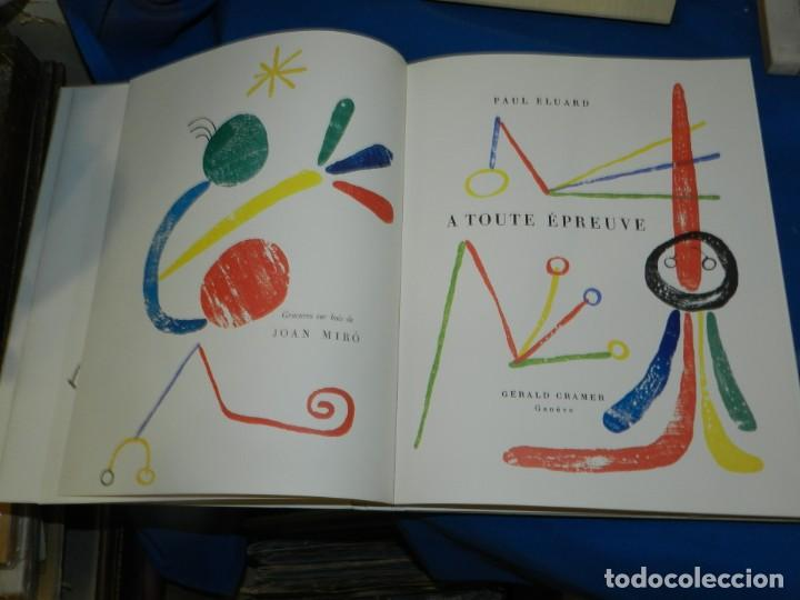 Libros antiguos: (M) PAUL ELUARD - A TOUTE ÉPREUVE - JOAN MIRÓ, GÉRALD CRAMER, GENÉVE , MUY ILUSTRADO - Foto 4 - 206229217