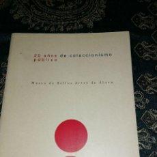Libros antiguos: ARCO 96 '. 20 AÑOS DE COLECCIONISMO PUBLICO. MUSEO DE BELLAS ARTES DE ALAVA, LIBRO ILUSTRADO,158. Lote 206530900