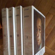 Libros antiguos: GOYA. 1746-1828. BIOGRAFIA, ESTUDIO ANALITICO Y CATALOGO DE SUS PINTURAS. 4 VOL. GUDIOL, JOSÉ.. Lote 206945278
