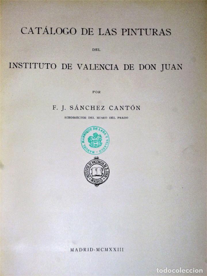 Libros antiguos: CATÁLOGO DE PINTURAS DEL INSTITUTO DE VALENCIA DE DON JUAN - Foto 2 - 206957787