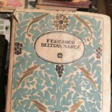 Libros antiguos: ANTONIO DE HOYOS Y VINENT. SOBRE FEDERICO BELTRÁN MASSES Y SU PINTURA. MADRID, C. 1925. Lote 208963683