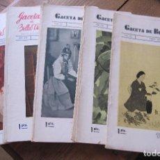 Libros antiguos: GACETA DE BELLAS ARTES. MADRID. SEPTIEMBRE 1934 (NÚM 437) A OCTUBRE 1935 (NUM. 450). 31 X 21 CM. Lote 210450643