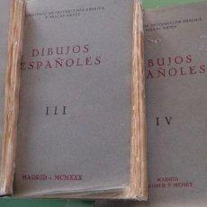 Libros antiguos: DIBUJOS ESPAÑOLES, 1930. 4 TOMOS. Lote 211419899