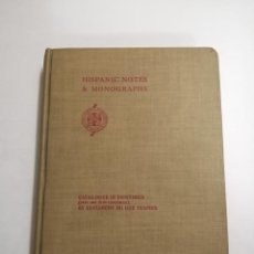 Libros antiguos: CATALOGUUE OF PAINTINGS. ELIZABETH DU GUÉ TRAPIER. 1930 NEW YORK. PRINTED BY ORDER OF THE TRUSTEES. Lote 211963130