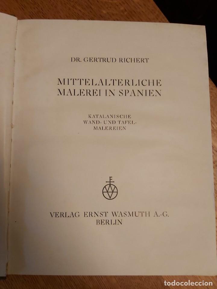 Libros antiguos: MITTELALTERLICHE MALEREI IN SPANIEN. RICHERT. PINTURA MEDIEVAL EN ESPAÑA. 1925. - Foto 2 - 218562200