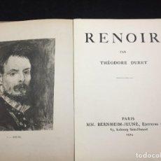 Libros antiguos: RENOIR. PAR THEODORE DURET. 1924 BERNHEIM-JEUNE EDITEURS D'ART. EN FRANCÉS ILUSTRADA. Lote 218661646