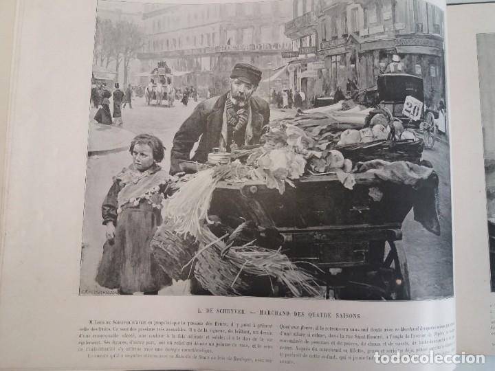 Libros antiguos: MARAVILLOSO ALBUM LE PANORAMA SALON PRECIOSOS CUADROS MAS DE 120 AÑOS GRAN FORMATO - Foto 6 - 220274280