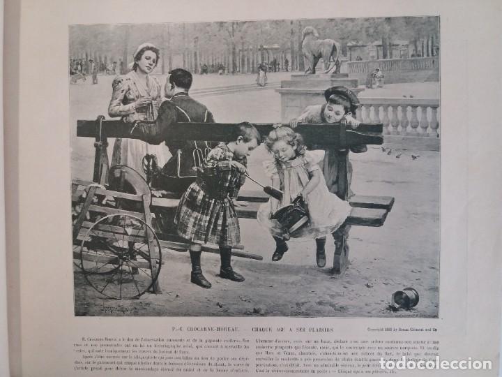 Libros antiguos: MARAVILLOSO ALBUM LE PANORAMA SALON PRECIOSOS CUADROS MAS DE 120 AÑOS GRAN FORMATO - Foto 11 - 220274280