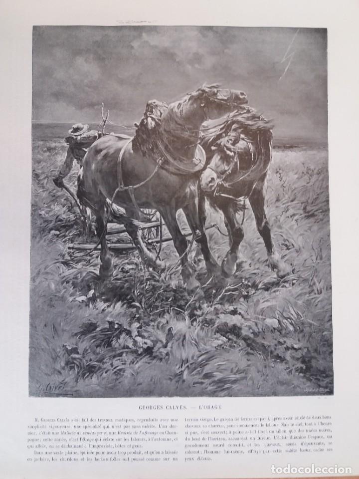Libros antiguos: MARAVILLOSO ALBUM LE PANORAMA SALON PRECIOSOS CUADROS MAS DE 120 AÑOS GRAN FORMATO - Foto 27 - 220274280