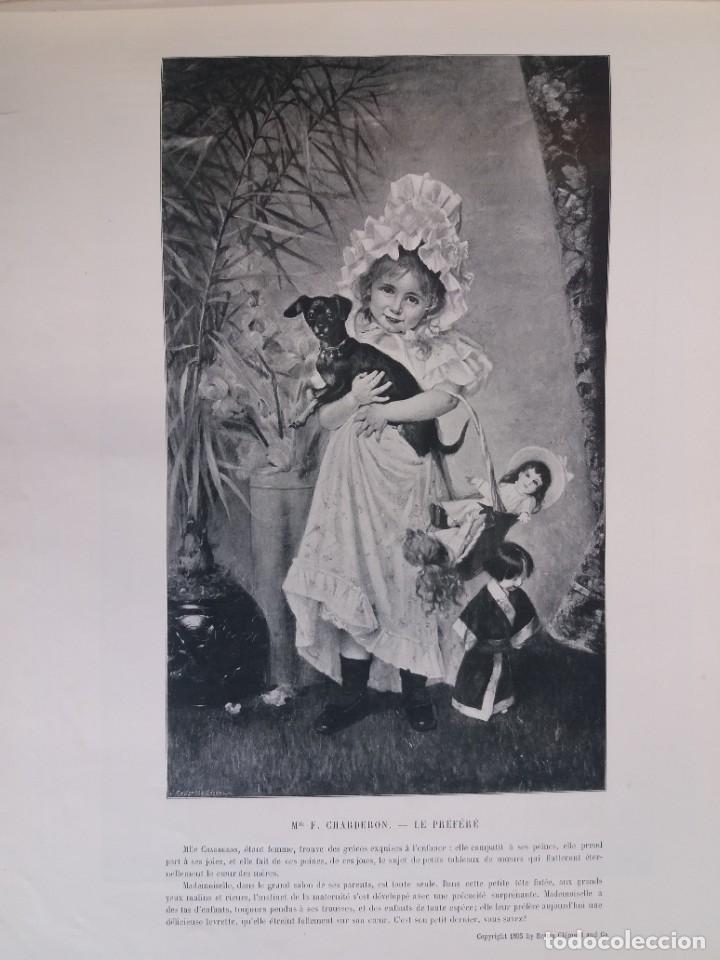 Libros antiguos: MARAVILLOSO ALBUM LE PANORAMA SALON PRECIOSOS CUADROS MAS DE 120 AÑOS GRAN FORMATO - Foto 33 - 220274280