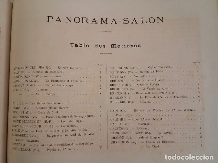 Libros antiguos: MARAVILLOSO ALBUM LE PANORAMA SALON PRECIOSOS CUADROS MAS DE 120 AÑOS GRAN FORMATO - Foto 116 - 220274280