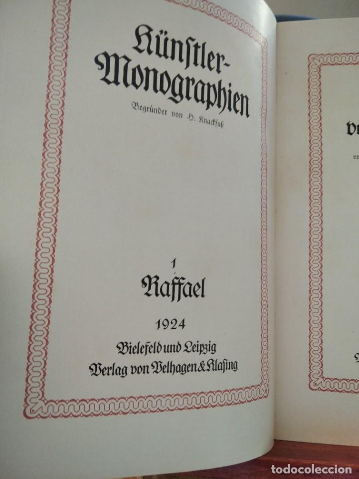 Libros antiguos: RAFFAEL VON KNACKFUB-KUNFTLER MONOGRAPHIEN-EJEMPLAR Nº1 DE LA COLECCION--LEIPZIG-1924 - Foto 9 - 221827520