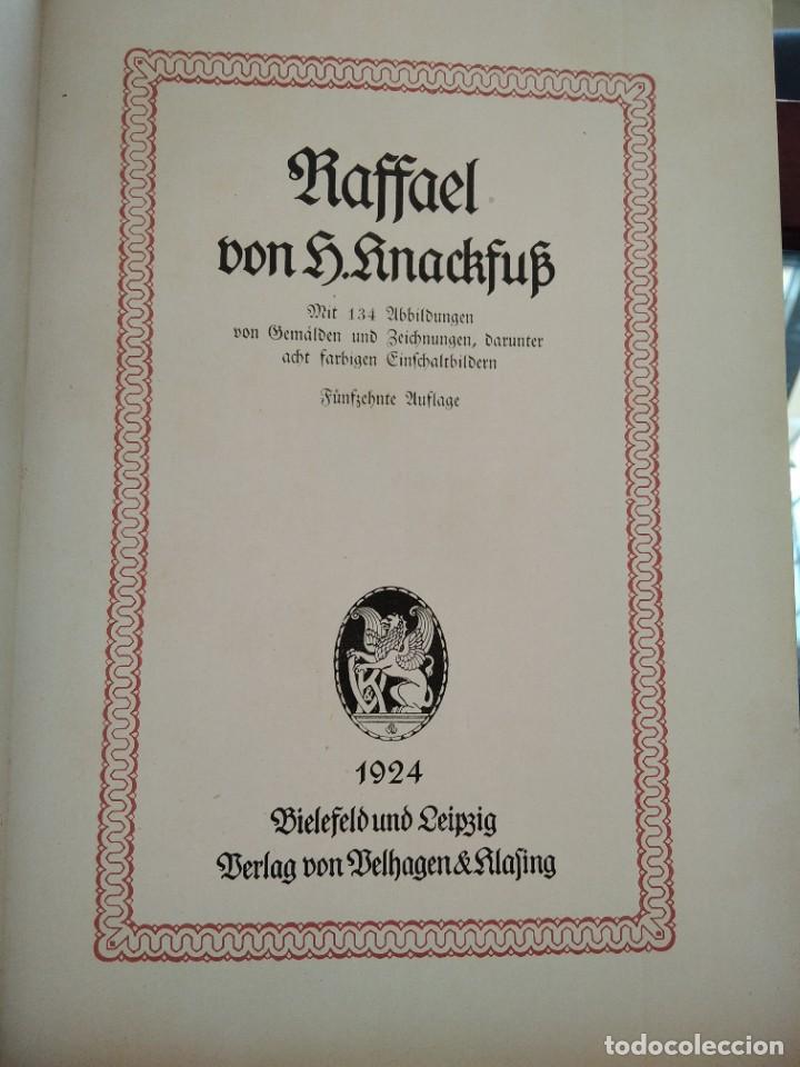 Libros antiguos: RAFFAEL VON KNACKFUB-KUNFTLER MONOGRAPHIEN-EJEMPLAR Nº1 DE LA COLECCION--LEIPZIG-1924 - Foto 10 - 221827520
