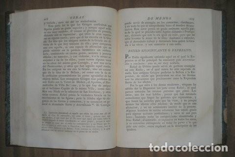 Libros antiguos: OBRAS DE D. ANTONIO RAFAEL MENGS, PRIMER PINTOR DE CÁMARA DEL REY. ED. JOSEPH NICOLÁS DE AZARA 1797 - Foto 2 - 111134375