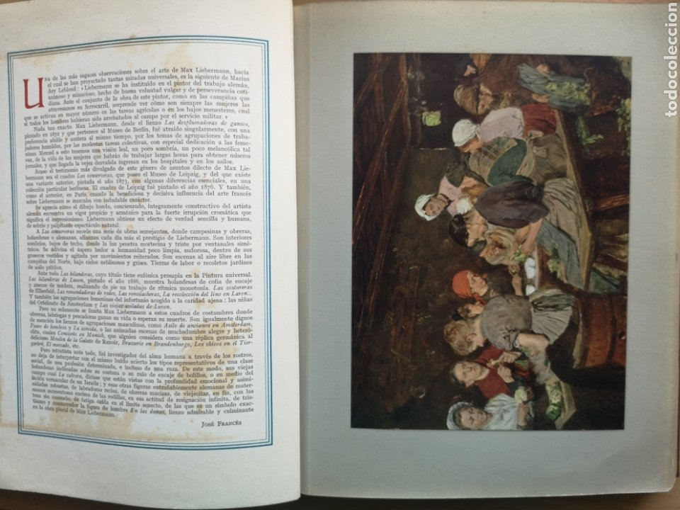 Libros antiguos: GALERÍAS DE EUROPA. PINTURA MODERNA. JOSÉ FRANCÉS. GEORGES GAILLARD. LABOR 1935. - Foto 4 - 221942942