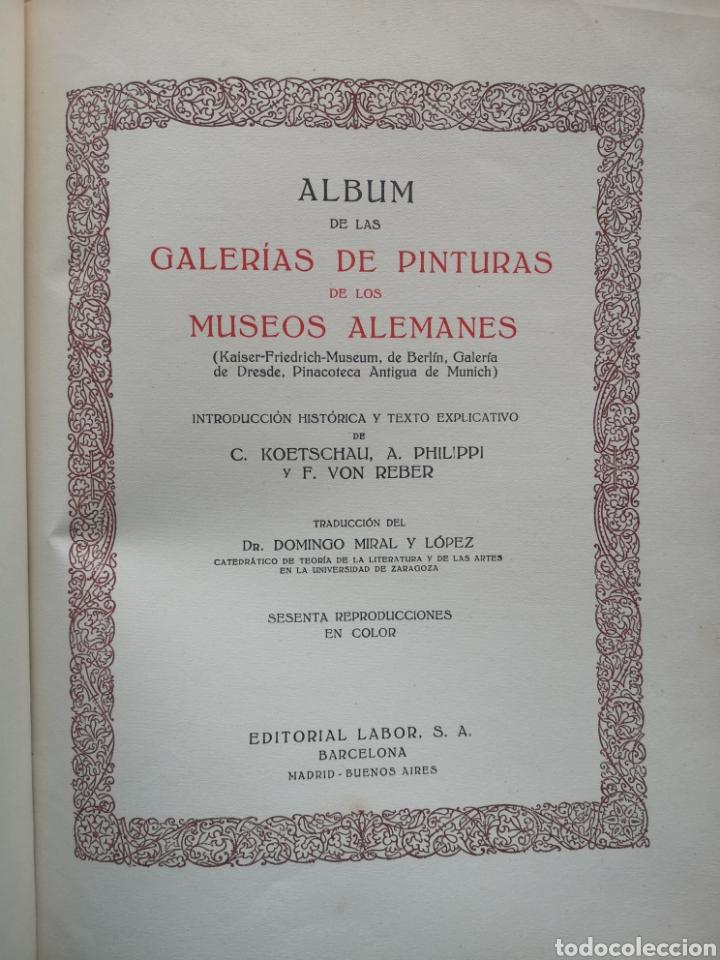 Libros antiguos: GALERÍAS DE EUROPA. MUSEOS ALEMANES. KOETSCHAU, PHILIPPI, VON REBER. LABOR CIRCA. 1935. - Foto 2 - 221944575