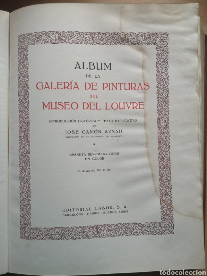 Libros antiguos: GALERÍAS DE EUROPA. MUSEO DEL LOUVRE. JOSÉ CAMON AZNAR. LABOR 1935. - Foto 2 - 221946432