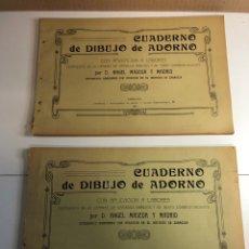 Libros antiguos: 2 CUADERNOS DE DIBUJO DE ADORNO AÑO 1911(ÁNGEL MESADA Y MADRID)EDITA ABADÍA Y CAPAPE ZARAGOZA. Lote 225007882