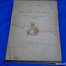 Libros antiguos: JOAQUIM VAYREDA.ANTECEDENTS.L'AMBIENT.L'HOME.L'ARTISTE.1922.RAFAEL BENET. Lote 225066145