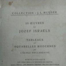 Libros antiguos: JOZEZ ISRAELS. CATÁLOGO EXPOSICIÓN. AMSTERDAM. 1904. Lote 225778270