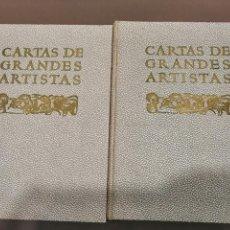 Libros antiguos: CARTAS DE GRANDES ARTISTAS. TOMO I DEGHIBERTI A VELÁSQUEZ Y II DE BLAKE A PICASSO. 1967. Lote 226851495