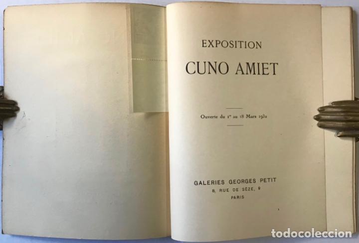 Libros antiguos: EXPOSITION CUNO AMIET. Ouverte du Ier au 18 Mars 1932. - [Catálogo.] - Foto 2 - 123264627